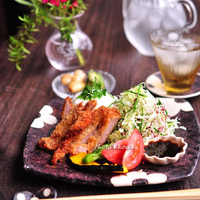「カフェ風*ソースカツ丼」