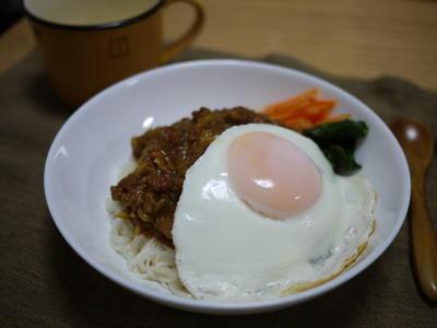 ミツカン追いがつおつゆ★和風キーマカレー素麺 *レシピ有*