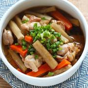 鶏ごぼうのめんつゆ炒め煮