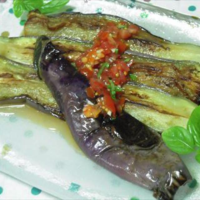 焼きなすのトマトドレッシング仕立て・オイシックス野菜