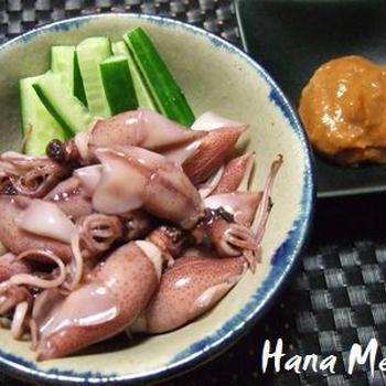 ボイルホタルイカ、酢味噌