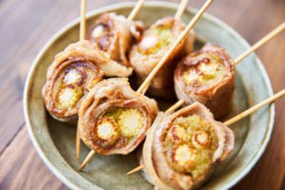 ヤングコーンの肉巻き串(野菜巻き串)