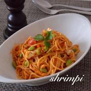 栄養満点!!切り干しと枝豆入り☆ミートスパゲティ
