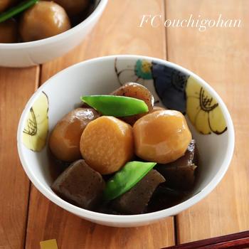 【レシピ】下茹でなしで簡単♪里芋とこんにゃくの甘辛煮