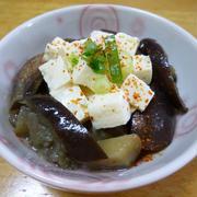 冷やっこい甘みそ茄子豆腐