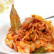ロールキャベツ味のひき肉とキャベツの炒め煮☆