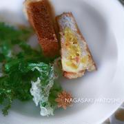 菜の花とハトシ(揚げ物)