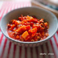 蓮根と豚のトマト煮・高校弁当