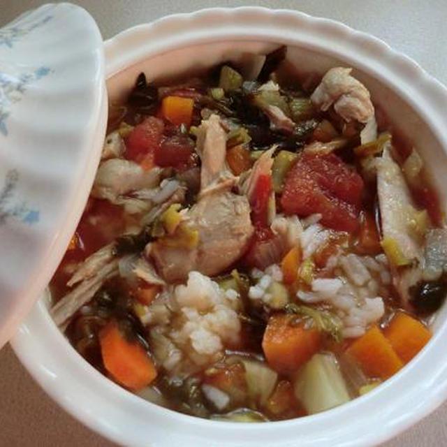 野菜スープでダイエットランチ ♪