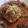 簡単☆鮭とオリーブのトマトバジル煮込み