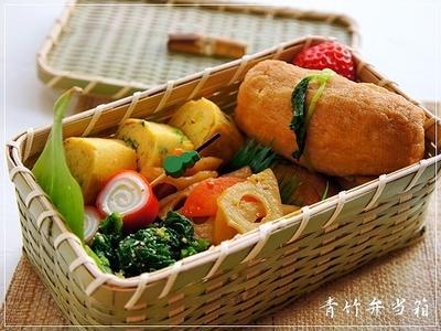 憧れの初☆籠弁当は稲荷寿司弁当