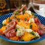 【レシピ】柿と生ハムとモッツァレラのサラダ
