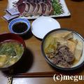 牛肉と厚揚げの麺つゆ煮