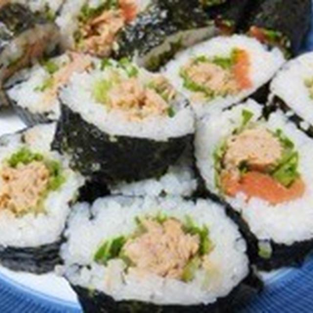 シーチキンで巻き寿司