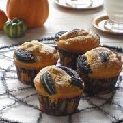 ハロウィンに☆ かぼちゃと胡桃のオレオマフィン