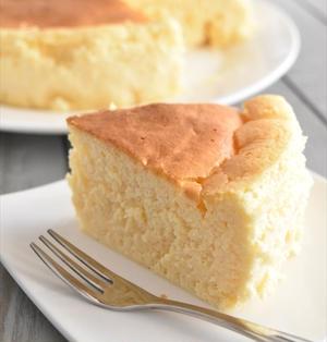 生クリーム不要!しゅわしゅわスフレチーズケーキ