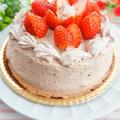 バレンタインデー向け修行中!いちごのチョコレートデコレーションケーキ