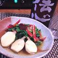 慈姑と雪菜の中華に、九条葱と若芽の祇園七味ぬた、揚げない天かす青海苔コロッケ