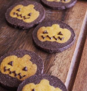 かぼちゃのアイスボックスクッキー/ジャックオランタン/ハロウィン