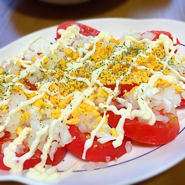 トマトのオニオンのっけサラダ