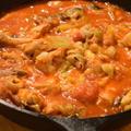 スープ弁当にもピッタリ。鶏むね肉とマッシュルームのトマト煮|パパの料理塾 次回は10月30日(火)@麻布十番19時からビールで乾杯スタート。洋食マスター講座