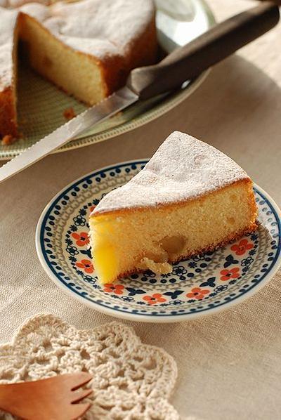しっとり甘~い♡リンゴとさつま芋のクリームケーキ【スマホも出来ない】