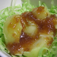 野菜のうまみドレッシング玉ねぎでそのまんまポテトサラダ♪