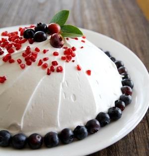 とーっても簡単ドームケーキ* 木苺チーズムース1.2.3レシピだよ!