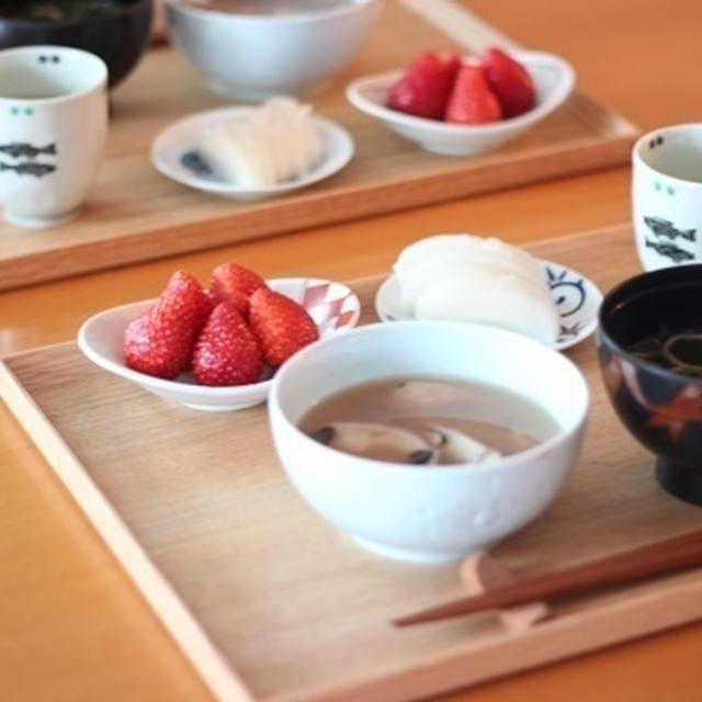 1月18日(月)豆餅おしるこ de 朝ごはん