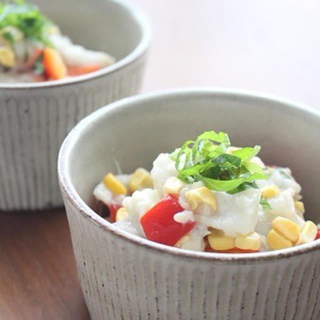 里芋のカラフル洋風胡麻サラダ