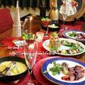 ◆ロマネスコツリーにリースサラダのクリスマスディナー♪~ゆるやか糖質制限中♪