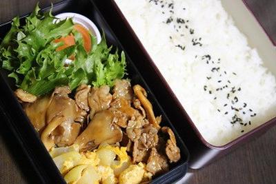 10月2日  豚肉と舞茸の オイスターソース炒め弁当