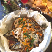 簡単!時短!秋の旬 秋刀魚アレンジレシピ♪ サンマとレンコンののガーリックペッパー蒸し