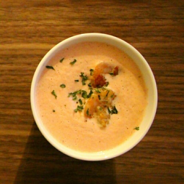 【簡単!お店の味!】海老のビスク風スープ*洋風海鮮丼*アメーバトピックスに掲載