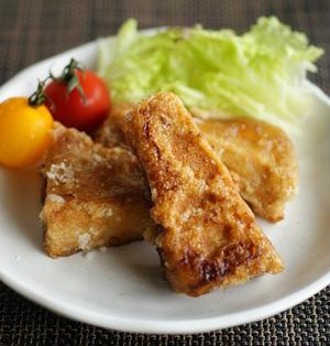 精進料理♪生姜風味の高野豆腐の唐揚げ
