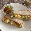 豆苗いり焼き卵サンド。とおとなしい?! by シュリンピさん