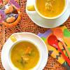 かぼちゃとタマネギの塩バタースープ