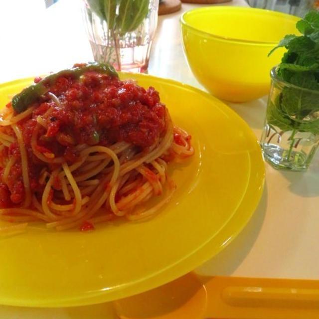 アラビアータを作った 唐辛子のトマトソースパスタ トマトパスタ