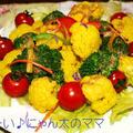 ターメリックで彩り豊かなカリフラワーとブロッコリーのサラダ☆