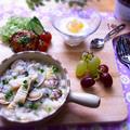 タケノコとハマグリのリゾット(雑炊)・筍ご飯とハマグリの潮汁のリメイク料理