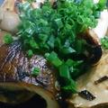 野郎飯流・あわび茸の焦がし葱生姜醤油焼き