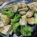 鶏モモ肉とブロッコリーのオイマヨ炒め