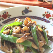 舞茸とピーマンの炒め物