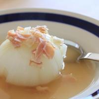 がっつり新玉ねぎで♪まるごとスープ