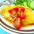 鶏ささみのチーズ照り焼き♪ガーリックトマト添え