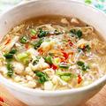 鶏むねミンチとところてんの酸辣湯風 レシピ・作り方