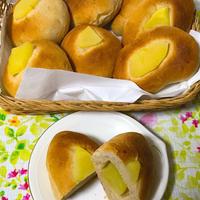 りんごの全粒粉3割パン作りました