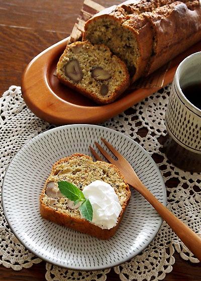 甘栗むいちゃった・・ほうじ茶のパウンドケーキ&嬉しいこと♪
