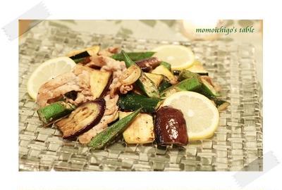 夏野菜のレモンペッパーソテー*スパイスレシピ♪