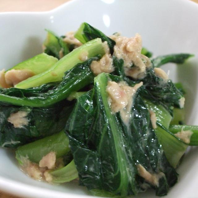 簡単☆小松菜のツナマヨだし醤油♪お弁当に